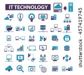 it technology icons | Shutterstock .eps vector #457419745