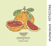 background with grapefruit .... | Shutterstock .eps vector #457421566