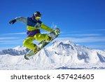 Snowboarder In Bright...