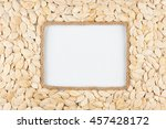 frame made of rope with pumpkin ... | Shutterstock . vector #457428172