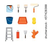 painter tools objects icons set ...   Shutterstock .eps vector #457428388