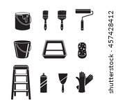 painter tools objects icons set ... | Shutterstock .eps vector #457428412