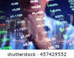 stock market trading floor... | Shutterstock . vector #457429552