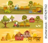 farm agriculture banner ... | Shutterstock .eps vector #457429762