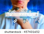 search bar concept. search icon ... | Shutterstock . vector #457431652