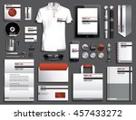 vector illustration of a set of ... | Shutterstock .eps vector #457433272