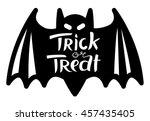 trick or treat halloween... | Shutterstock .eps vector #457435405