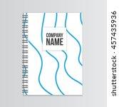 blank empty notepad | Shutterstock .eps vector #457435936