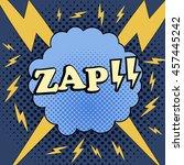 zap comic cartoon. illustration ...   Shutterstock .eps vector #457445242