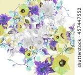 beautiful  watercolor bouquet... | Shutterstock . vector #457447552