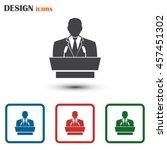 speaker icon. orator speaking... | Shutterstock .eps vector #457451302