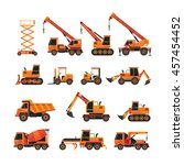 construction vehicles objects... | Shutterstock .eps vector #457454452