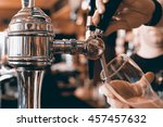 chrome beer taps with... | Shutterstock . vector #457457632
