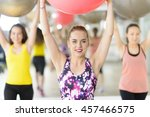 people exercising with fitness... | Shutterstock . vector #457466575