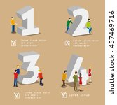 numbers and people isometric... | Shutterstock .eps vector #457469716
