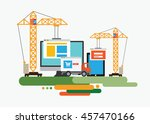 flat design of website under... | Shutterstock .eps vector #457470166