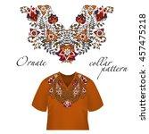 vector design for collar shirts ...   Shutterstock .eps vector #457475218
