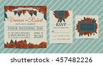 botanic invitation set with... | Shutterstock .eps vector #457482226