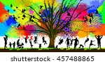 childhood colorful tree. vector | Shutterstock .eps vector #457488865