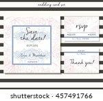 vector wedding card set in...
