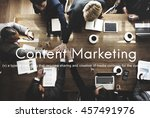 Small photo of Content Marketing Social Media Advertising Commercial Branding Concept
