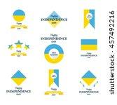 independence day of ukraine.... | Shutterstock .eps vector #457492216