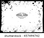 grunge frame   abstract texture.... | Shutterstock .eps vector #457494742