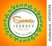 summer logo design elements for ... | Shutterstock .eps vector #457495198