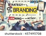 brand branding label marketing...   Shutterstock . vector #457495708