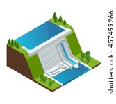 hydroelectric power plant....   Shutterstock .eps vector #457499266