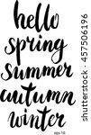 vector hand drawn hello spring  ... | Shutterstock .eps vector #457506196