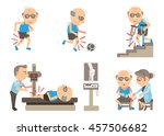 seniors knee pain. cartoon... | Shutterstock .eps vector #457506682