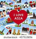 travel to asia. a collage of...