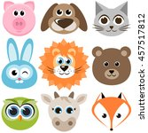 set of funny animals | Shutterstock .eps vector #457517812