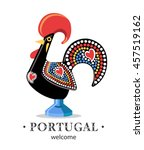 portugal rooster cock symbol   Shutterstock .eps vector #457519162