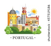 portugal sintra castle palace... | Shutterstock .eps vector #457519186