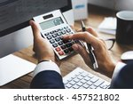 business financing accounting... | Shutterstock . vector #457521802