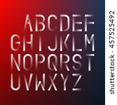 futuristic font on a blurred... | Shutterstock .eps vector #457525492
