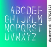 futuristic font on a blurred... | Shutterstock .eps vector #457525525