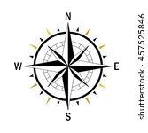 isolated vector compass. vector ... | Shutterstock .eps vector #457525846