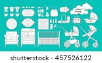 retail and wholesale kids shop. ... | Shutterstock .eps vector #457526122