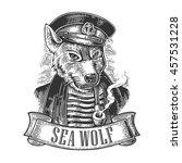 Sea Wolf With Pipe And Ribbon....