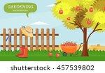 garden colorful designs... | Shutterstock .eps vector #457539802