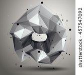 geometric monochrome polygonal... | Shutterstock . vector #457547092