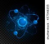 shining atom scheme. isolated...   Shutterstock .eps vector #457548355