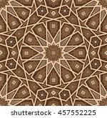 islamic seamless oriental... | Shutterstock .eps vector #457552225