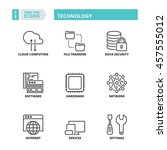 flat symbols about technology.... | Shutterstock .eps vector #457555012
