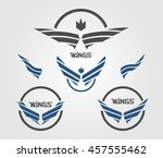 wing icons | Shutterstock .eps vector #457555462