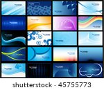 set of 20 business vector cards | Shutterstock .eps vector #45755773