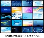 set of 20 business vector cards | Shutterstock .eps vector #45755773